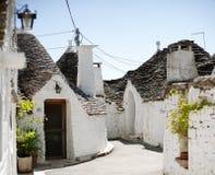 Typical trulli houses in Alberobello, Italy Royalty Free Stock Photo