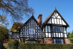 Typical tudor house. Fine tudor facade in rural Dorset Royalty Free Stock Photography