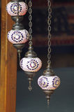 Typical Turkish Lanterns on sale Royalty Free Stock Photography