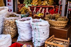 Turkish Spice Bazaar Royalty Free Stock Photography