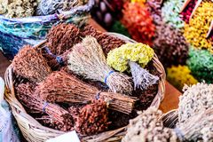 Turkish Spice Bazaar Royalty Free Stock Images