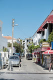 Typical turkish street with small shops in Bodrum Royalty Free Stock Image