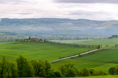 Typical Tuscan beautiful view. The river valley Orcia (Val d'Orcia Stock Images