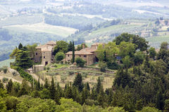 Typical tuscan house Royalty Free Stock Photo