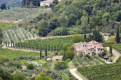 Typical tuscan house Royalty Free Stock Images