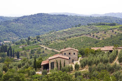 Typical tuscan house Royalty Free Stock Photos