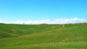 Typical Tuscan landscape. With the beautiful green hills stock video footage