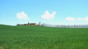 Typical Tuscan landscape with the beautiful green hills stock video