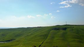 Typical Tuscan landscape with the beautiful green hills stock video footage