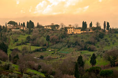 Typical Tuscan Landscape, Florence Royalty Free Stock Images