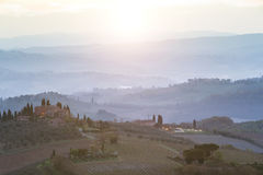 Typical Tuscan landscape Royalty Free Stock Photography