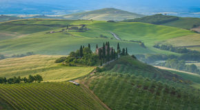 Typical tuscan landscape Stock Photos