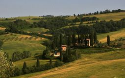 Typical tuscan landscape in Italy Royalty Free Stock Photography