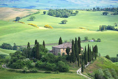 Typical Tuscan landscape. Italy Stock Photos