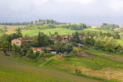 Typical tuscan landscape in spring time Stock Photography