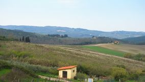 Typical Tuscan landscape. With the beautiful green hills stock footage
