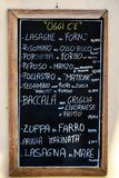 Typical menu of a Tuscan trattoria royalty free stock images