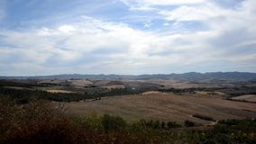 Typical Tuscan panorama. From farmhouse stock footage