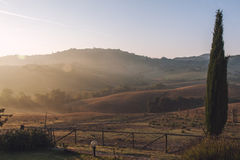 Typical Tuscan scenery Stock Photo