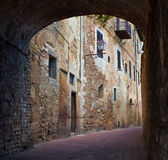 Typical Tuscan town. Old Tuscan town, San Gimignano, Italy stock photos