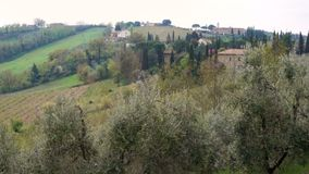 Typical Tuscanian landscape. With the beautiful green hills stock video