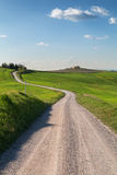 Typical Tuscany landscape and road , green hills springtime Royalty Free Stock Photography