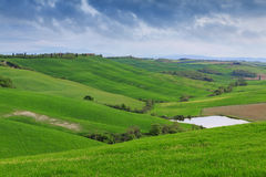 Typical Tuscany landscape springtime Stock Image