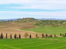 Typical Tuscany landscape springtime Stock Images