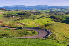 Typical Tuscany landscape springtime. In Italy,Europe Royalty Free Stock Images