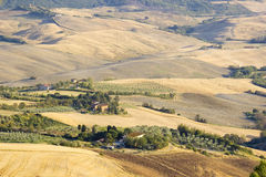 Typical Tuscany landscape in summer Royalty Free Stock Photos