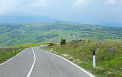 Typical Tuscany road Stock Photography