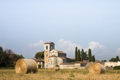 Typical Tuscany Romanesque church Royalty Free Stock Images