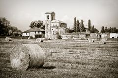 Typical Tuscany Romanesque church Royalty Free Stock Photography