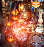 Typical Tuskish Lanterns on sale Stock Images
