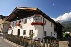 Typical tyrolean house Royalty Free Stock Images