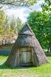 A typical ukrainian antique hut stock photo