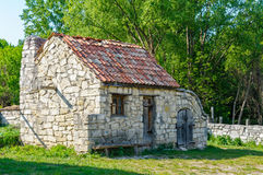 A typical ukrainian antique stone house Royalty Free Stock Photography