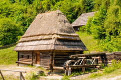 A typical ukrainian antique water mill Stock Image