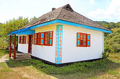 Typical Ukrainian house Royalty Free Stock Photo