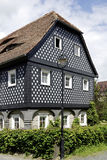 Typical Umgebindehaus in the Upper Lusatia Royalty Free Stock Image