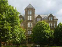 Typical University building in the United States royalty free stock photos
