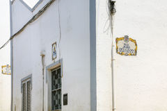 Typical urban houses in old town of Albufeira Stock Images