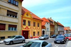 Typical urban landscape in Brasov, Transylvania Royalty Free Stock Photography