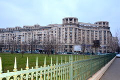 Typical urban landscape in the center of Bucharest - Bucuresti Royalty Free Stock Photo