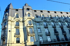 Typical urban landscape in the centre of Bucharest - Bucuresti Stock Photography