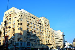 Typical urban landscape in the centre of Bucharest - Bucuresti Royalty Free Stock Photography