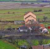 Typical urban landscape in the city Rupea-Reps. It was Dacian settlement Rumidava and later, during the Roman occupation. It was Dacian settlement Rumidava and Royalty Free Stock Images