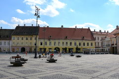 Typical urban landscape in the city Sibiu, Transylvania. Sibiu is one of the most important cultural centres of Romania and was designated the European Capital Stock Photography