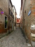 Typical urban landscape in Ferrara, Italy, in a rainy day Stock Photo