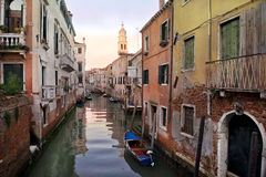 Typical urban landscape of old Venice Stock Photos